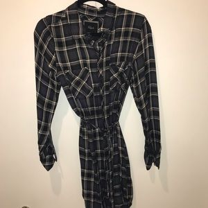 Rails Flannel Shirt-Dress with tie!